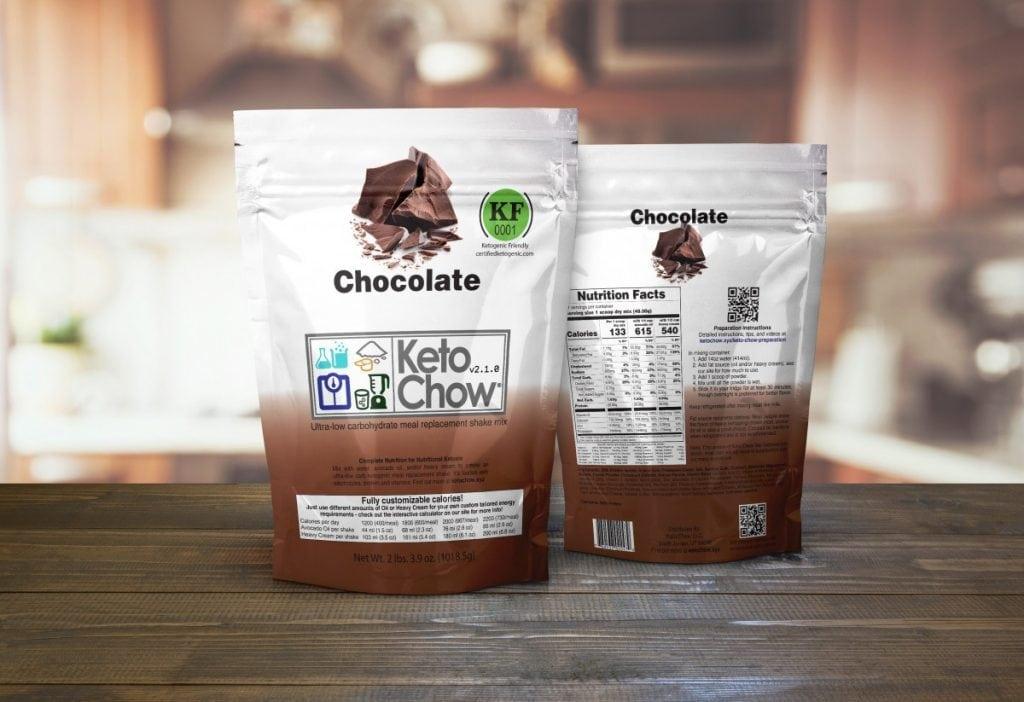 keto chow chocolate flavor
